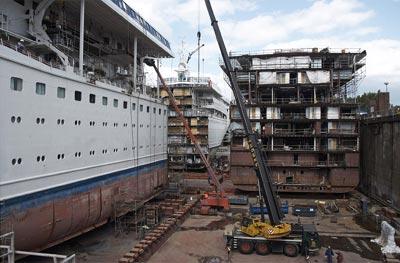 Ship In DryDocks What Do Crew Members Do - Docked cruise ship