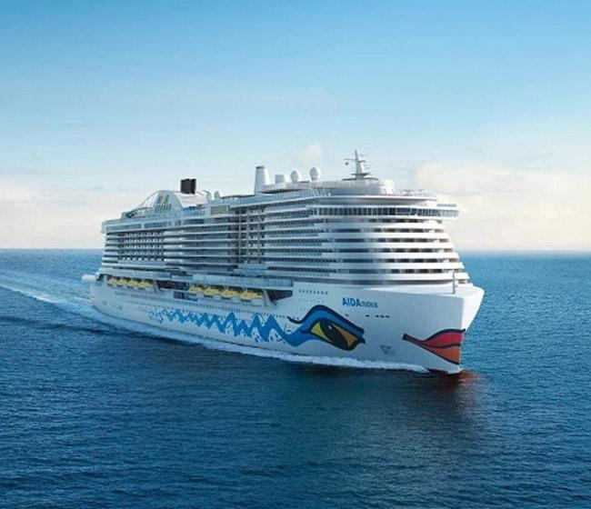 AIDA's new cruise ship AIDAnova launched