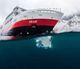 Underwater Explorer Drones for Hurtigruten's Expedition Cruise Ships
