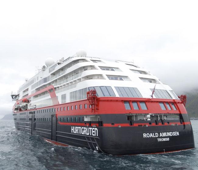 "Hurtigruten's New Hybrid Cruise Ship ""Roald Amundsen"""