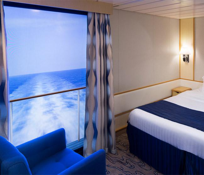 Royal Caribbean ships with virtual balconies