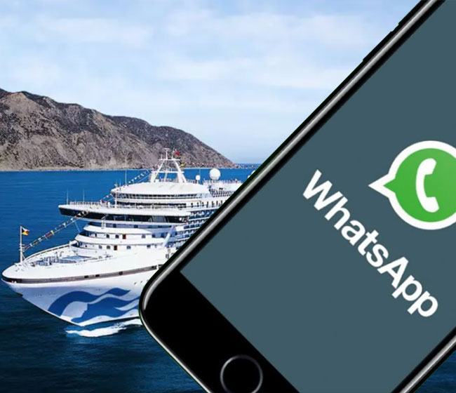 Crew to Benefit from Free WhatsApp Access by Princess Cruises